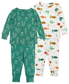 Baby Boys Chameleon Pajama Set, 4 Piece