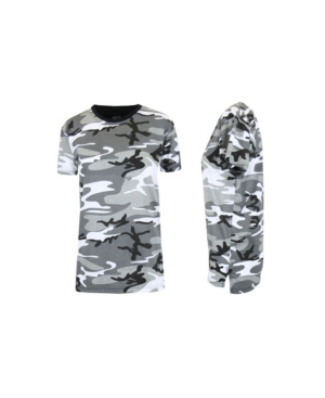 Galaxy By Harvic WOMEN'S LOOSE FIT SHORT SLEEVE CREW NECK CAMO PRINTED TEE