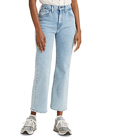 Women's High-Waist Cropped Flare Jeans