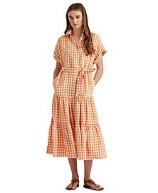 Petite Gingham Linen Shirtdress