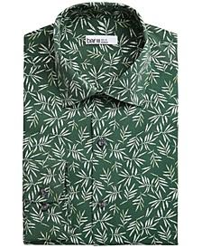 Men's Slim-Fit Tossed Leaf-Print Dress Shirt, Created for Macy's