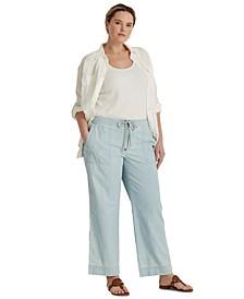 Plus-Size Wide-Leg Pants