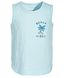 Toddler Boys Beach Vibes Cotton Tank Top, Created for Macy's
