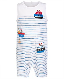 Baby Boys Boat Cotton Sunsuit, Created for Macy's