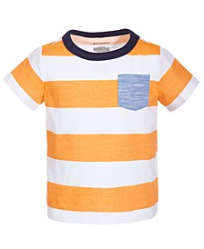 Baby Boys Rugby Stripe Cotton T-Shirt, Created for Macy's