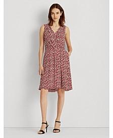 Petite Floral Crepe Sleeveless Dress