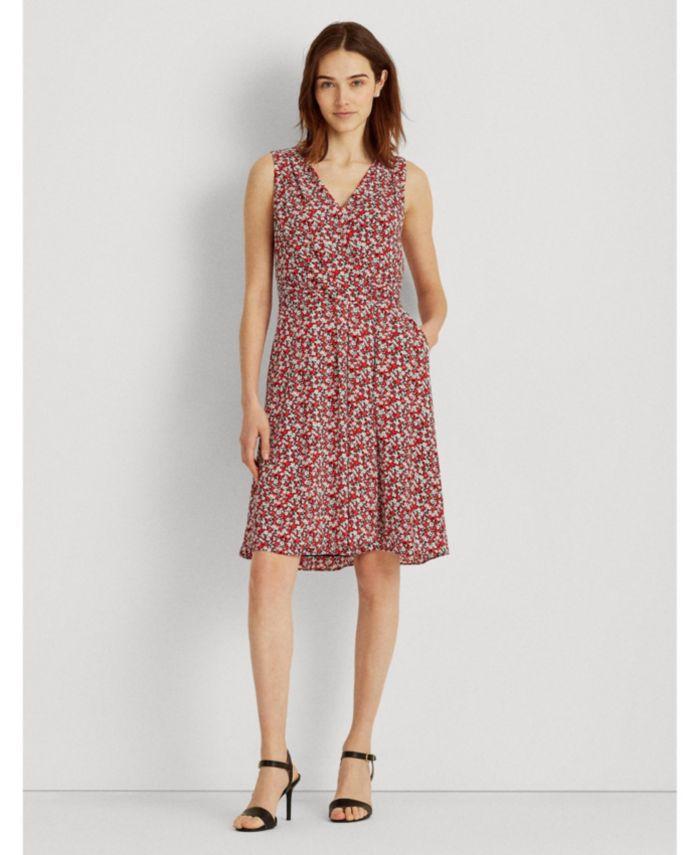 Lauren Ralph Lauren Petite Floral Crepe Sleeveless Dress & Reviews - Dresses - Petites - Macy's