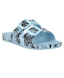 Women's Splash Buckle Detail Slide Sandals