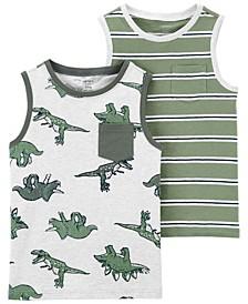 Toddler Boys 2-Pc. Printed Cotton Tank Tops