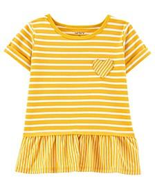 Toddler Girls Striped Jersey Top