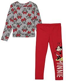Toddler Girls Minnie Legging and Long Sleeve T-shirt Set, 2 Piece