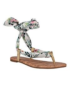 Women's Trap Tie-Up Flat Sandals