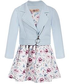 Baby Girls 2-Pc. Floral-Print Dress & Moto Jacket