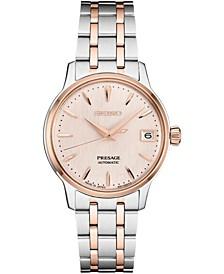 Women's Automatic Presage Two-Tone Stainless Steel Bracelet Watch 34mm