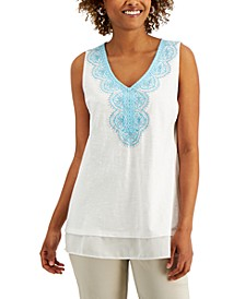 Embroidered Sleeveless Top, Created for Macy's