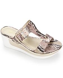 Women's Pepea Buckle Wedge Sandals
