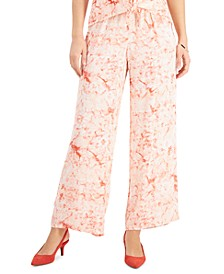 Plus Size Ariana Printed Wide-Leg Pants, Created for Macy's