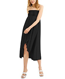 INC Smocked-Waist Tulip-Hem Skirt, Created for Macy's