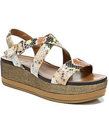 Nadira Ankle Strap Wedge Sandals