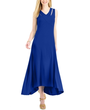 Crossover-Front Maxi Dress