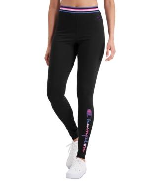 Champion Women's Authentic Double Dry Leggings In Black/watercolor