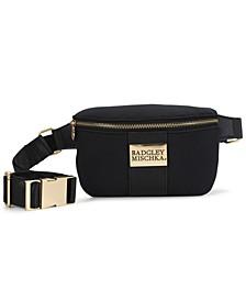Sage Scuba and Vegan Leather Belt Bag
