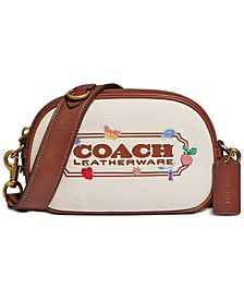 Embroidered Canvas Coach Badge Camera Bag