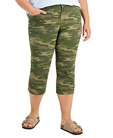 Plus Size Curvy-Fit Capri Jeans, Created for Macy's