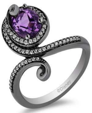 Amethyst (7/8 ct. t.w.) & Diamond (1/5 ct. t.w.) Ursula Ring in Sterling Silver & Black Rhodium