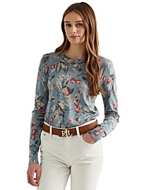 Floral Cotton-Modal Sweater