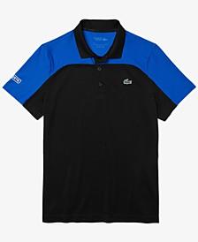 Men's Sport Breathable Colorblock Tennis Polo Shirt