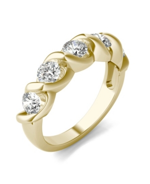 Moissanite Bypass Band 1-1/6 ct. t.w. Diamond Equivalent in 14k White or Yellow Gold