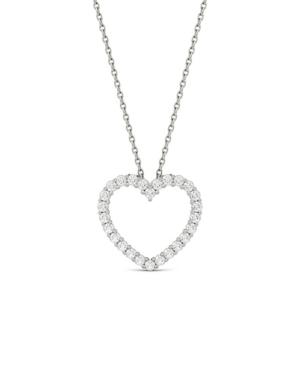 Moissanite Heart Pendant 3/8 ct. t.w. Diamond Equivalent in 14k White Gold