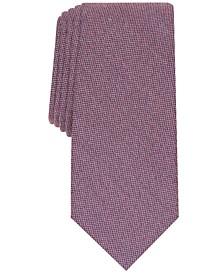 Men's Dunbar Solid Slim Tie, Created for Macy's