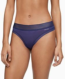 Striped-Waist Thong Underwear QD3670