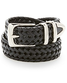 Men's Leather Braided Belt