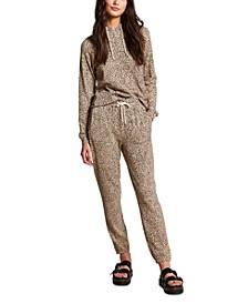 Women's Lil Fleece Printed Jogger Pants