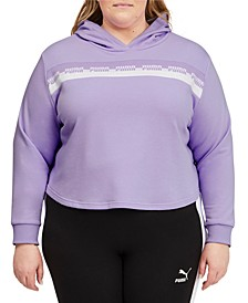 Plus Size Amplified Cropped Hoodie