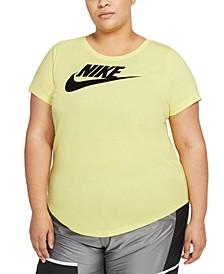 Plus Size Sportswear Cotton Logo T-Shirt