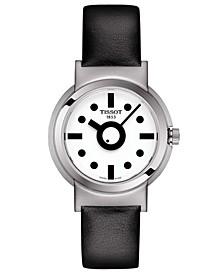 Women's Swiss Heritage Memphis Interchangeable Black & Pink Strap Watch 34mm