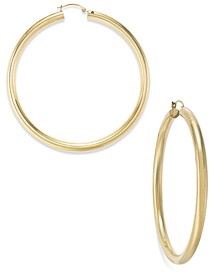 60mm Hoop Earrings in 14k Gold over Resin