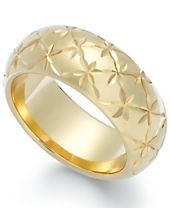 Signature Gold™ Diamond-Cut Star Ring in 14k Gold over Resin