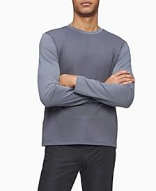 Men's Mixed Media Waffle-Knit Crewneck T-shirt