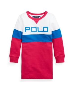 Polo Ralph Lauren TODDLER GIRLS LOGO FLEECE T-SHIRT DRESS