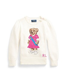 Little Girls Polo Bear Sweater