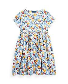 Toddler Girls Floral Empire-Waist Dress