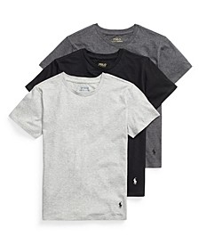 Big Boys Crewneck Undershirt, 3-piece Set