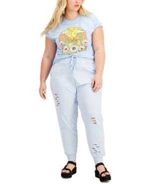 Trendy Plus Size Graphic-Print Cotton T-Shirt