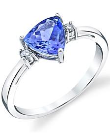 Tanzanite (1-1/4 ct. t.w.) & Diamond (1/20 ct. t.w.) Ring in 14k White Gold