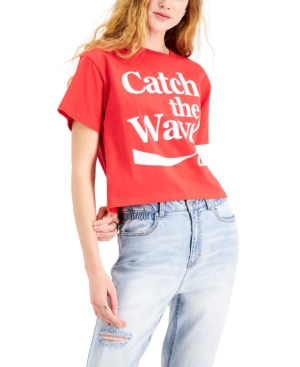 Juniors' Cotton Coca-Cola Graphic-Print T-Shirt